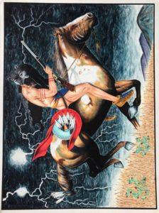 Leonardo Peña, 1997, Austin (Texas), cartoncino rigido da disegno (Tex Art), cm 38x50, tecnica mista