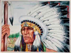 "Leonardo Peña, ""My People"", 1997, Austin (Texas), cartoncino rigido da disegno (Tex Art), cm 38x50, tecnica mista"