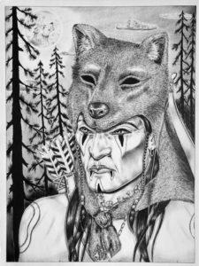 Leonardo Peña, 1997, Austin (Texas), cartoncino rigido da disegno (Tex Art), cm 38x50, penna