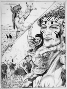 "Leonardo Peña, ""Please Give Us Plenty"" 1997, Austin (Texas), cartoncino rigido da disegno (Tex Art), cm 38x50, penna"