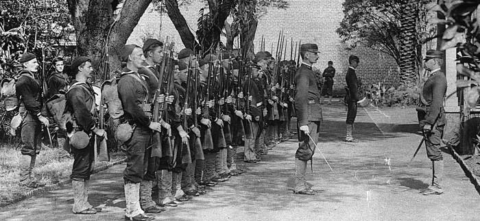 Le truppe di occupazione americane nel 1893