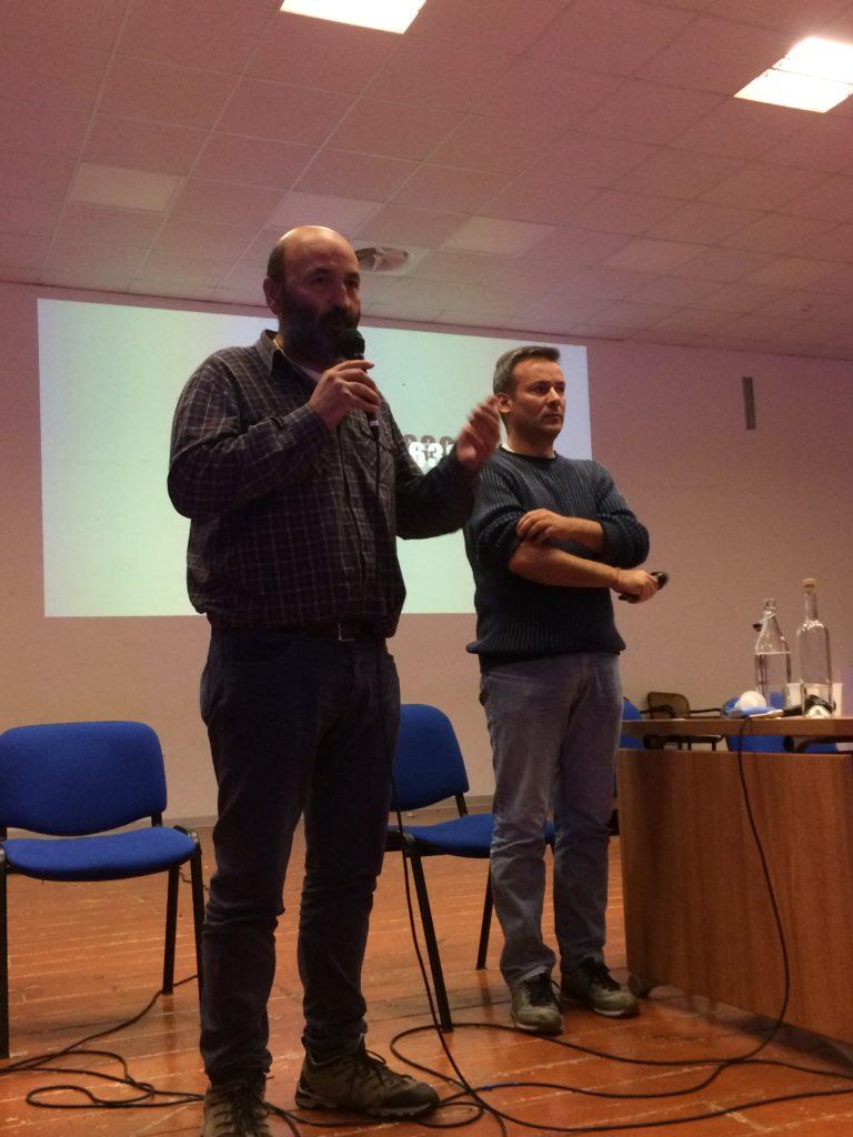 Antonio Ventre e David Monticelli dell'Associazione Il Cerchio