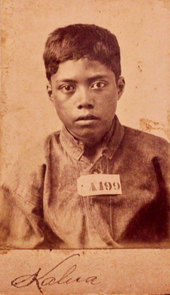 Arrestato all'età di 13 anni, questo è il più giovane dei prigionieri politici del 1885. Si chiamava Kalua.