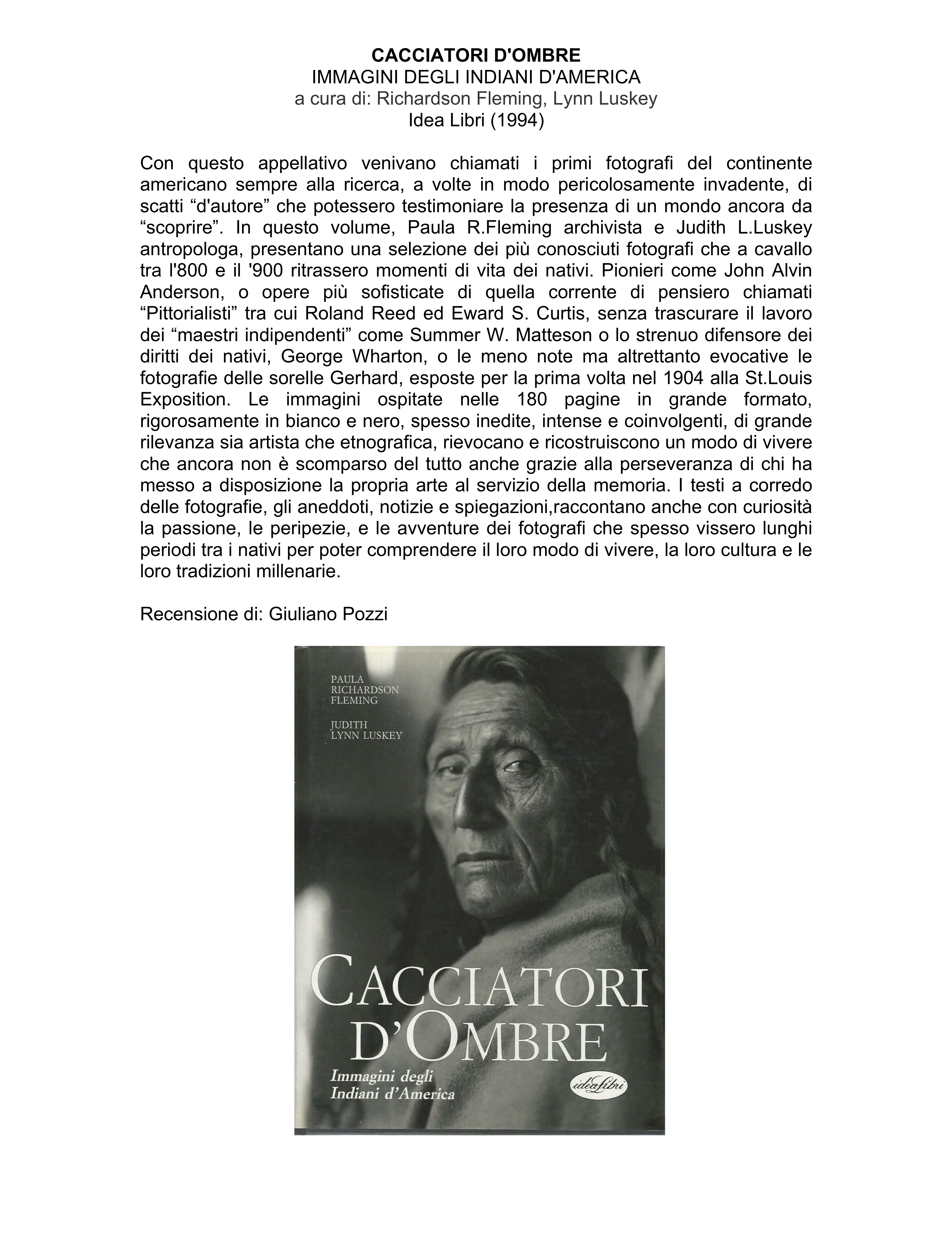 CACCIATORI D.OMBRE